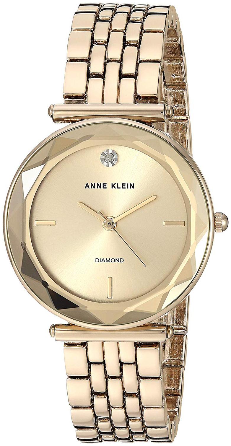 Anne Klein Diamond Dameklokke AK/3412CHGB Gulltonet/Gulltonet stål - Anne Klein