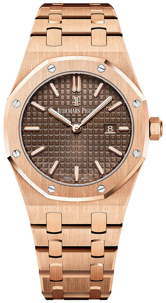 Audemars Piguet Royal Oak Dameklokke 67650OR.OO.1261OR.01 Brun/18 - Audemars Piguet
