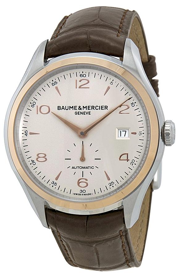 Baume & Mercier Clifton Herreklokke M0A10139 Sølvfarget/Lær - Baume & Mercier