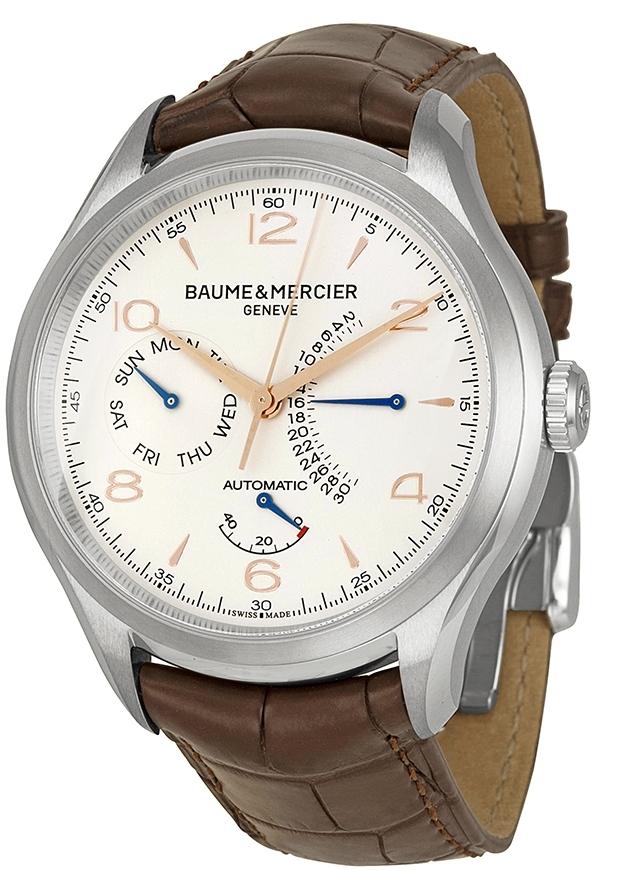 Baume & Mercier Clifton Herreklokke M0A10149 Sølvfarget/Lær - Baume & Mercier