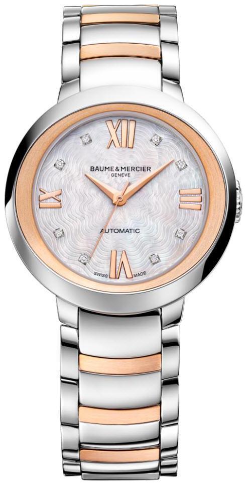 Baume & Mercier Promesse Dameklokke M0A10239 Hvit/Rose-gulltonet - Baume & Mercier