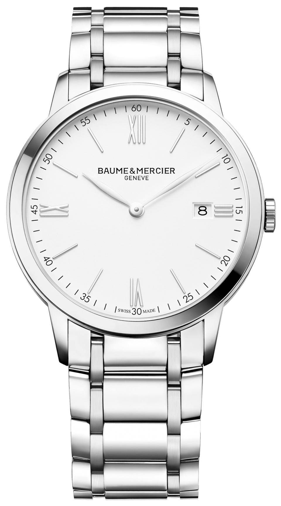 Baume & Mercier Classima Herreklokke M0A10354 Hvit/Stål Ø40 mm - Baume & Mercier
