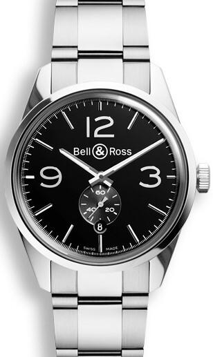 Bell & Ross BR 123 Herreklokke BRG123-BL-ST-SST Sort/Stål Ø41 mm - Bell & Ross