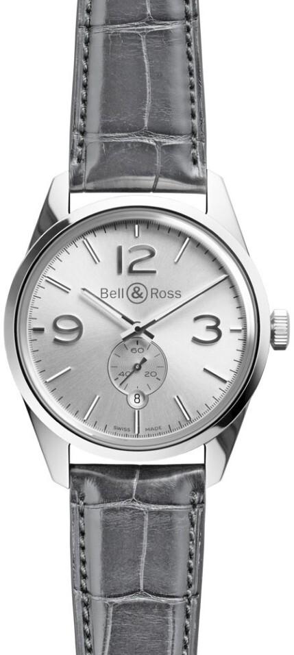 Bell & Ross BR 123 Herreklokke BRG123-WH-ST-SCR Sølvfarget/Lær - Bell & Ross