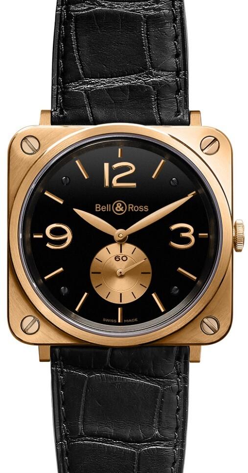 Bell & Ross BR S Mecanique Herreklokke BRS-PKGOLD-BLACK_D - Bell & Ross