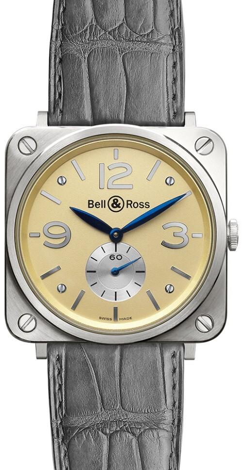 Bell & Ross BR S Mecanique Herreklokke BRS-WHGOLD-IVORY_D Antikk - Bell & Ross