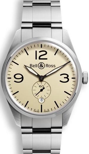 Bell & Ross BR 123 Herreklokke BRV123-BEI-ST-SST Brun/Stål Ø41 - Bell & Ross