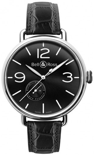 Bell & Ross WW1 Herreklokke BRWW197-BL-ST Sort/Lær Ø45 mm - Bell & Ross