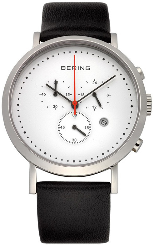 Bering Classic Herreklokke 10540-404 Hvit/Lær Ø40 mm - Bering