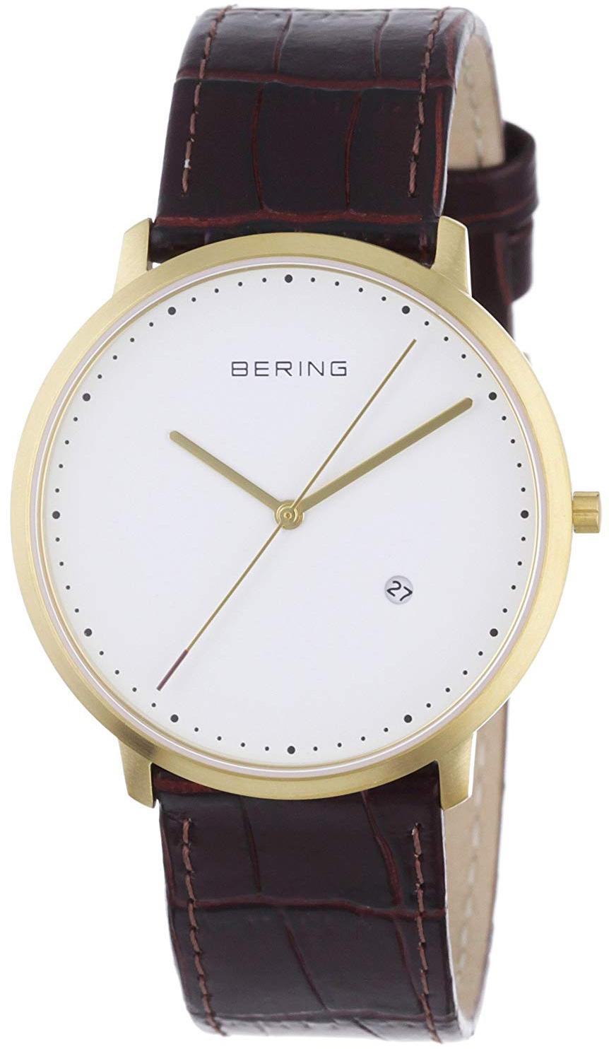 Bering Classic Herreklokke 11139-534 Hvit/Lær Ø39 mm - Bering