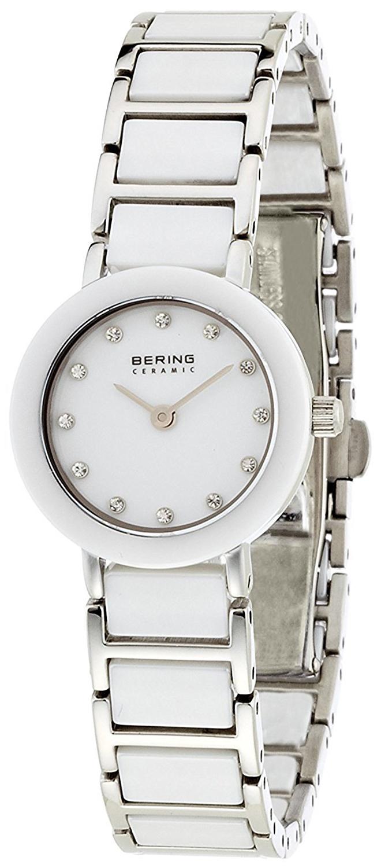 Bering Ceramic Dameklokke 11422-754 Hvit/Stål Ø22 mm - Bering
