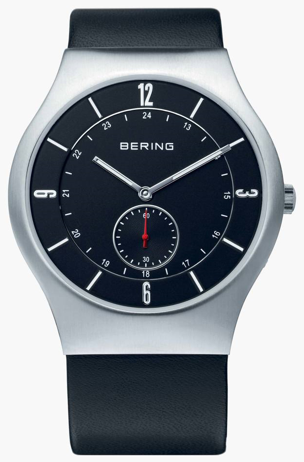 Bering Classic Herreklokke 11940-409 Sort/Lær Ø40 mm - Bering