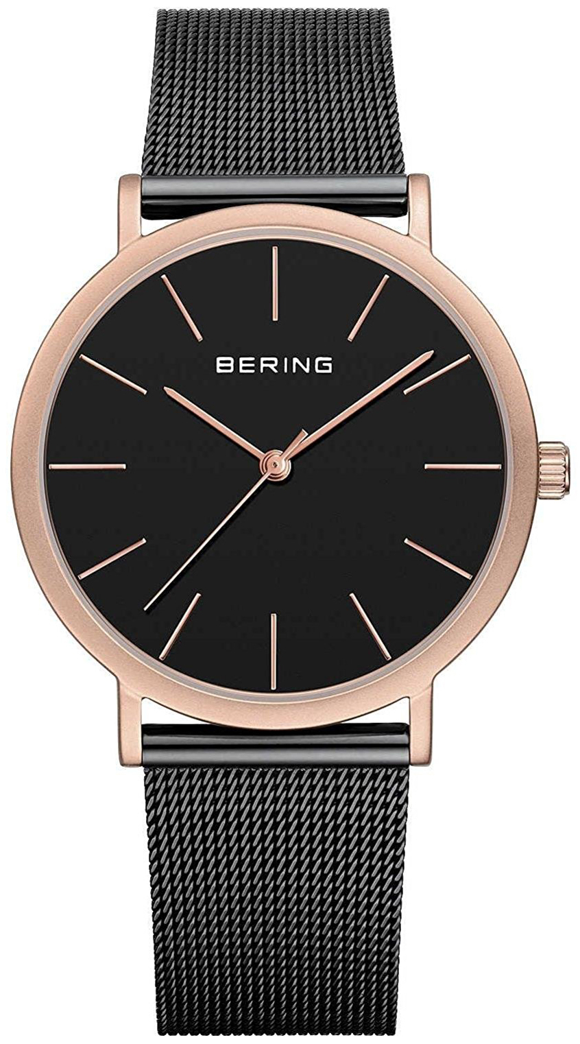 Bering Classic 13436-166 Sort/Stål Ø36 mm - Bering