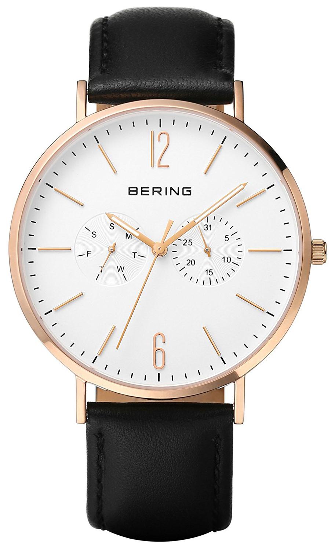 Bering Classic Herreklokke 14240-464 Hvit/Lær Ø40 mm - Bering