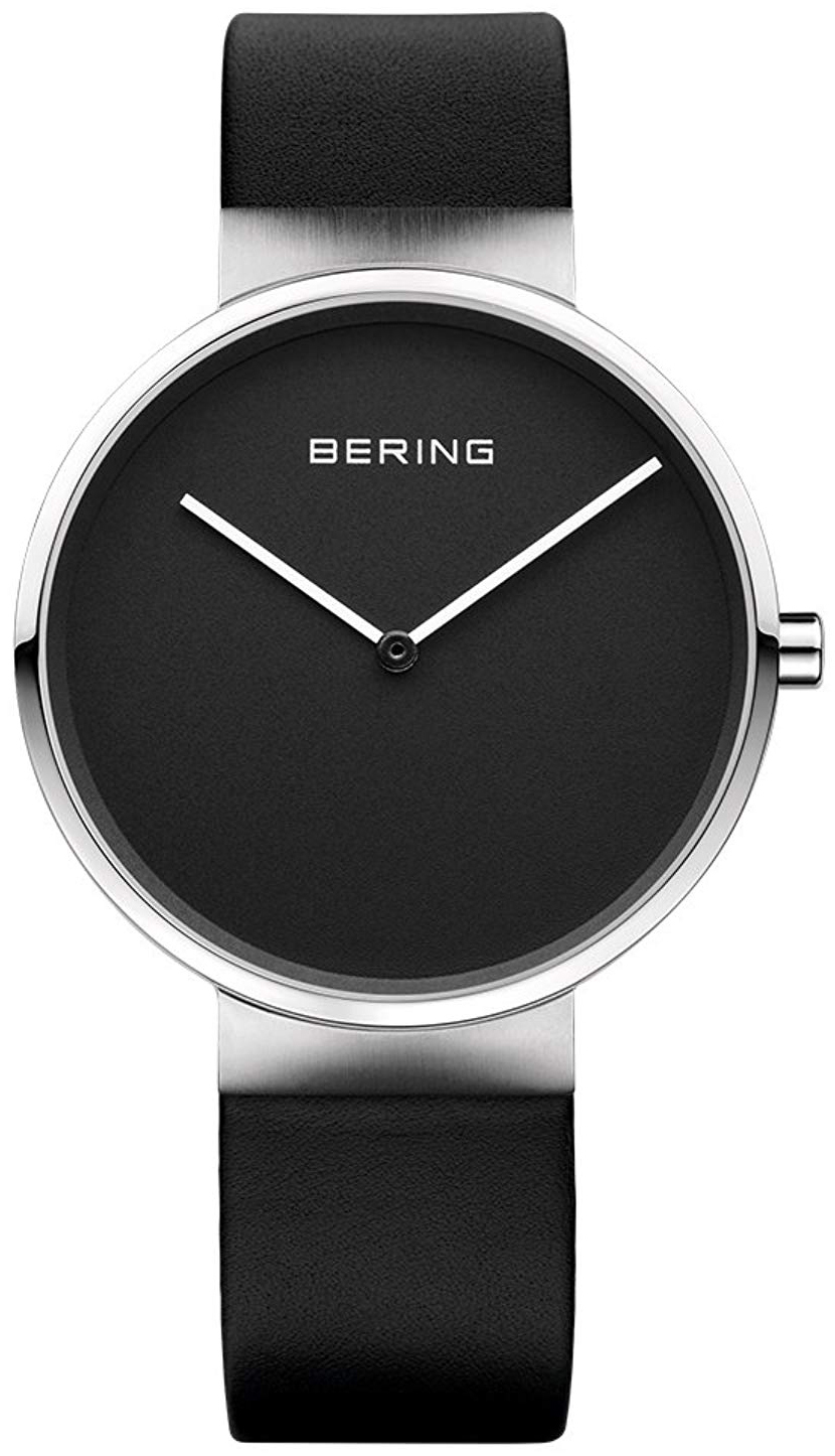 Bering Classic 14539-402 Sort/Lær Ø39 mm - Bering