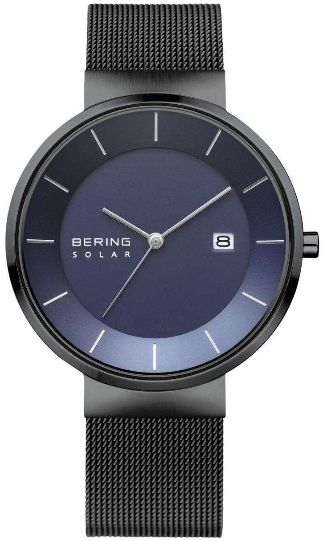 Bering Solar Herreklokke 14639-227 Blå/Stål Ø39 mm - Bering
