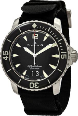 Blancpain Fifty Fathoms Herreklokke 5050-12B30-NABA Sort/Tekstil Ø45 - Blancpain