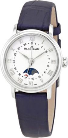 Blancpain Villeret Dameklokke 6106-1127-55A Hvit/Lær Ø29.2 mm - Blancpain