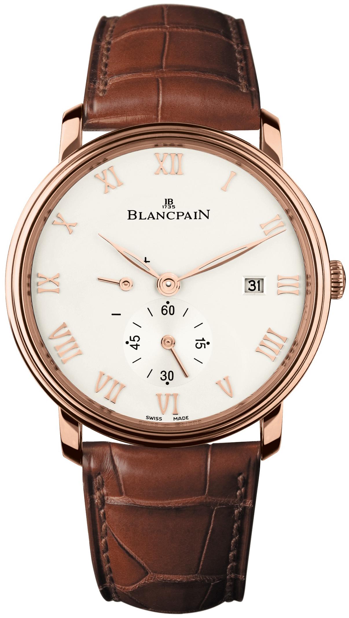 Blancpain Villeret Herreklokke 6606-3642-55A Hvit/Lær Ø40 mm - Blancpain