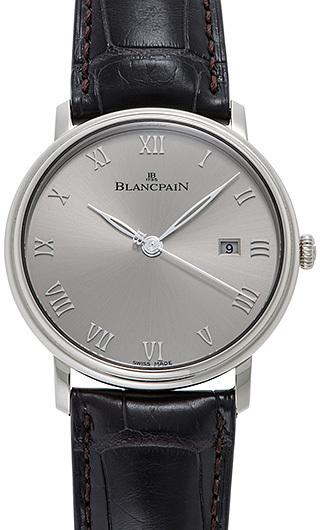 Blancpain Villeret Herreklokke 6651-1504-55A Grå/Lær Ø40 mm - Blancpain