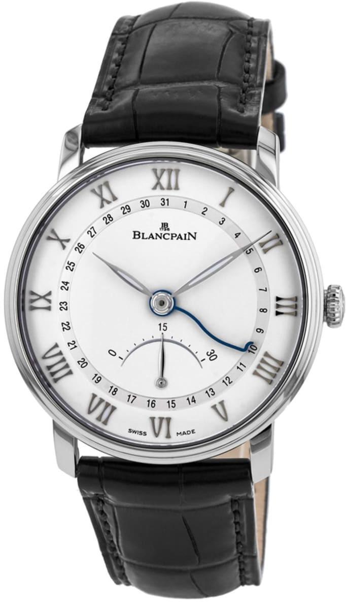 Blancpain Villeret Herreklokke 6653Q-1127-55B Hvit/Lær Ø40 mm - Blancpain