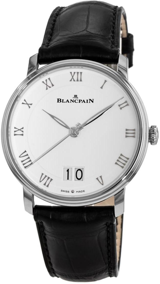 Blancpain Villeret Herreklokke 6669-1127-55B Hvit/Lær Ø40 mm - Blancpain
