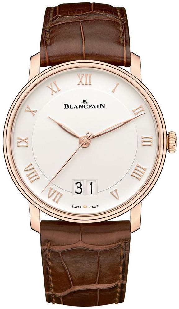 Blancpain Villeret Herreklokke 6669-3642-55A Hvit/Lær Ø40 mm - Blancpain