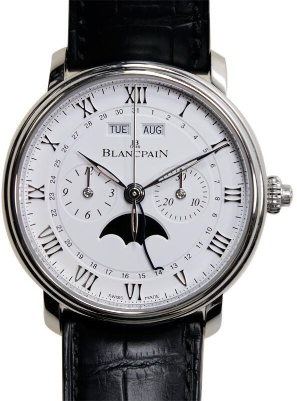 Blancpain Villeret Herreklokke 6685-1127-55B Hvit/Lær Ø40.3 mm - Blancpain