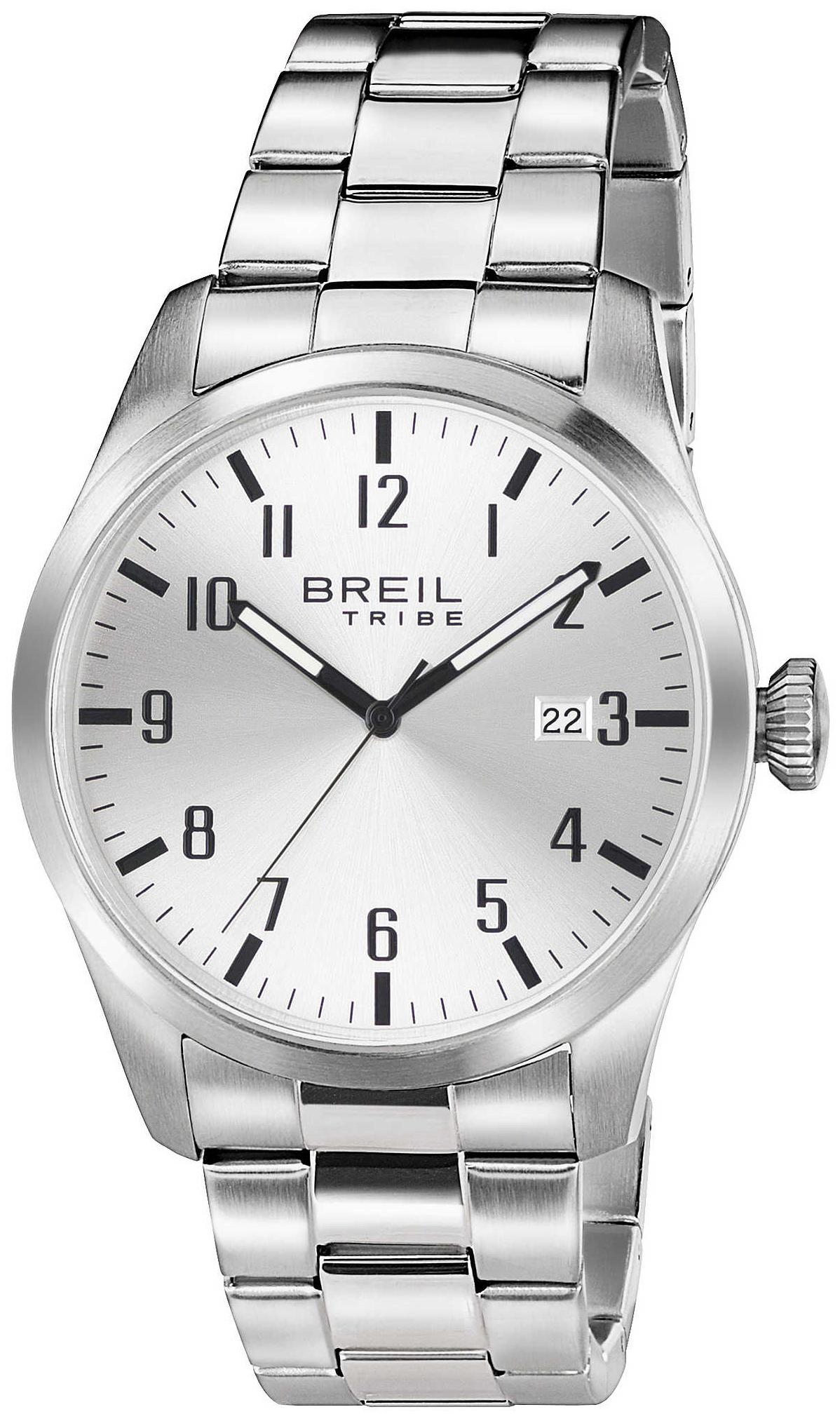 Breil Tribe Herreklokke EW0231 Sølvfarget/Stål Ø42 mm - Breil
