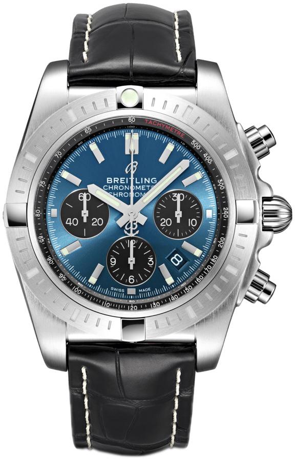 Breitling Chronomat 44 Herreklokke AB0115101C1P4 Blå/Lær Ø44 mm - Breitling