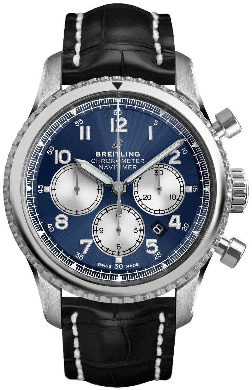 Breitling Navitimer Chronograph Herreklokke AB0117131C1P1 Blå/Lær - Breitling