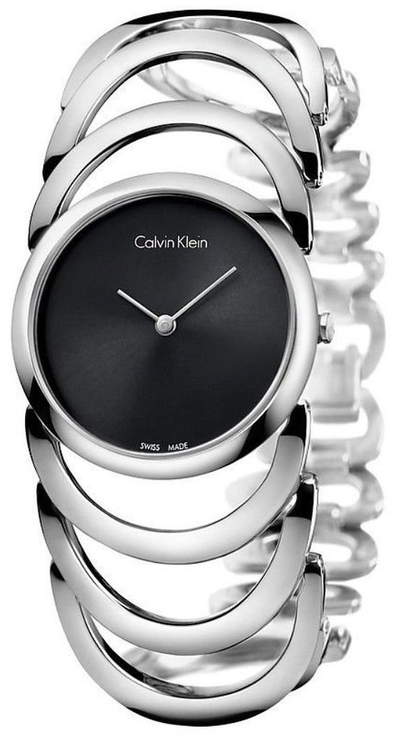 Calvin Klein Body Dameklokke K4G23121 Sort/Stål Ø30 mm - Calvin Klein