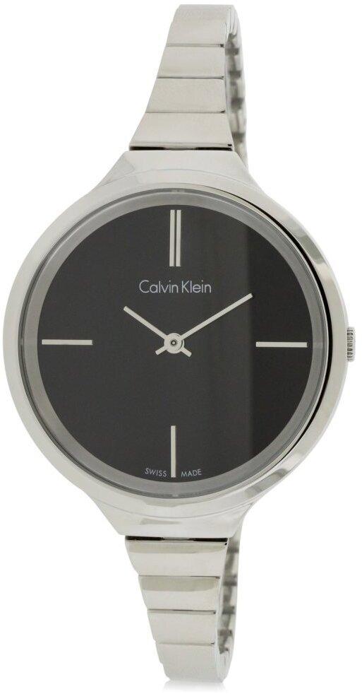 Calvin Klein Lively Dameklokke K4U23121 Sort/Stål Ø34 mm - Calvin Klein