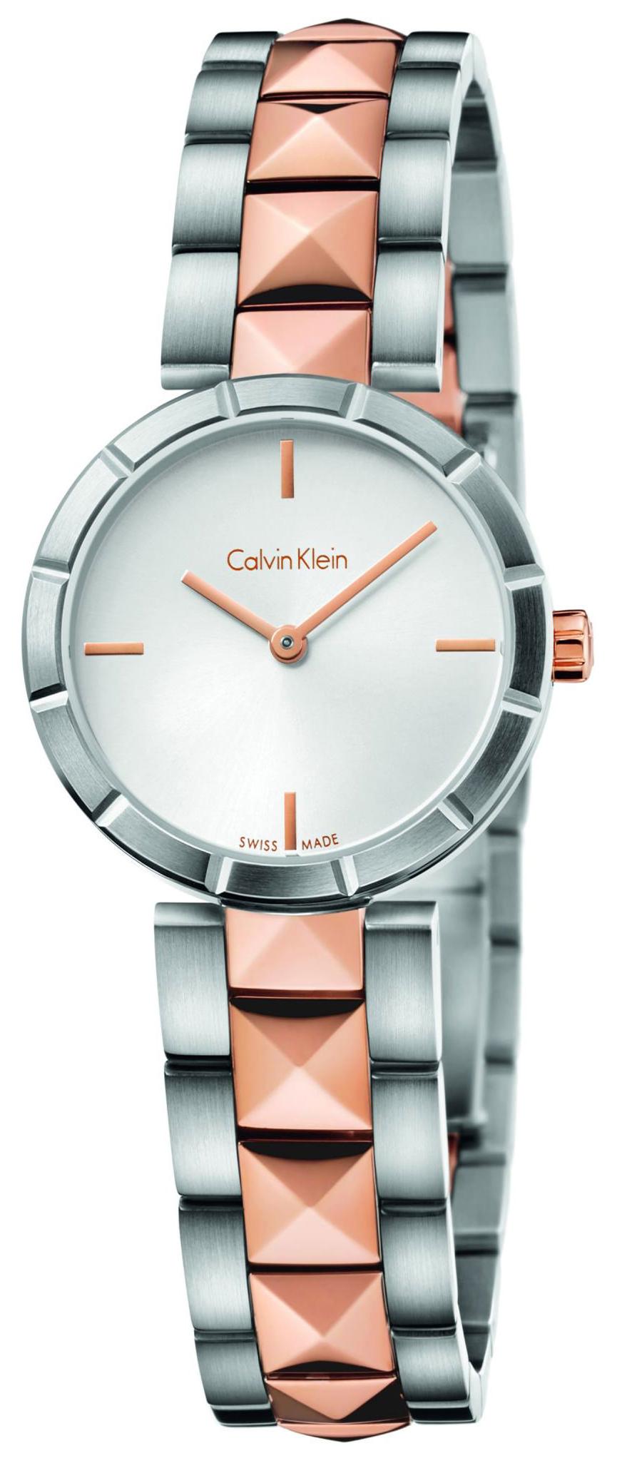 Calvin Klein Dress Dameklokke K5T33BZ6 Sølvfarget/Rose-gulltonet - Calvin Klein