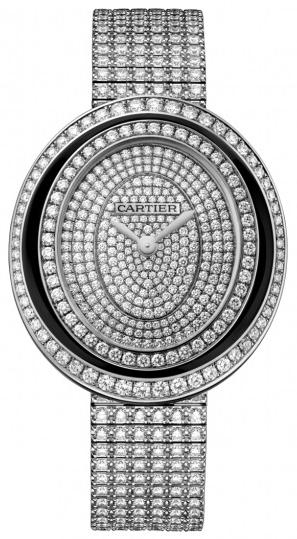 Cartier Hypnose Dameklokke HPI01050 Diamantsmykket/18 karat hvitt - Cartier