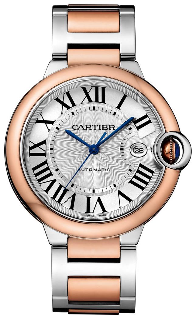 Cartier Ballon Blue Herreklokke W2BB0004 Sølvfarget/18 karat rosé - Cartier