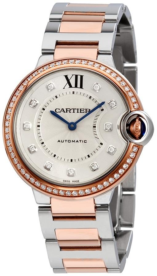 Cartier Ballon Blue Dameklokke W3BB0004 Sølvfarget/18 karat rosé - Cartier
