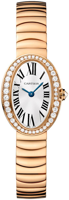 Cartier Baignoire Dameklokke WB520026 Sølvfarget/18 karat rosé gull - Cartier