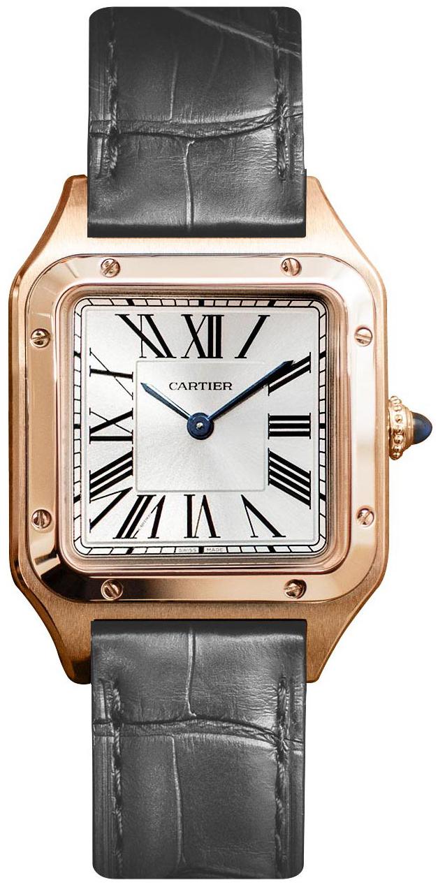 Cartier Santos Dumont WGSA0022 Sølvfarget/Lær - Cartier