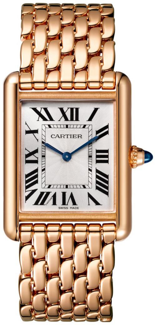 Cartier Tank Louis Dameklokke WGTA0024 Sølvfarget/18 karat rosé gull - Cartier