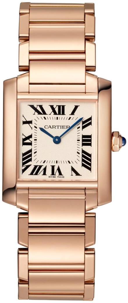 Cartier Tank Francaise Dameklokke WGTA0030 Sølvfarget/18 karat rosé - Cartier
