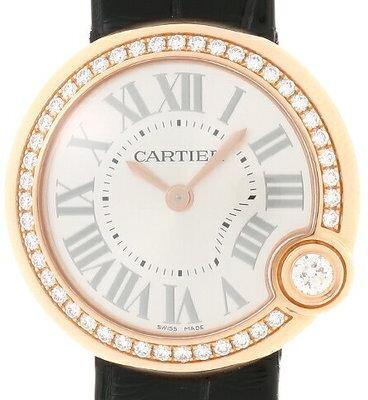 Cartier Ballon Blanc De Cartier Dameklokke WJBL0004 Sølvfarget/Lær - Cartier