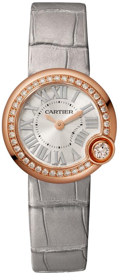 Cartier Ballon Blanc De Cartier Dameklokke WJBL0006 Sølvfarget/Lær - Cartier