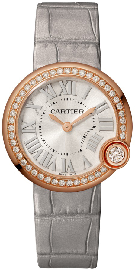 Cartier Ballon Blanc De Cartier Dameklokke WJBL0008 Sølvfarget/Lær - Cartier