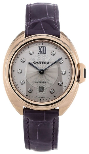 Cartier Calibre De Cartier Dameklokke WJCL0031 Sølvfarget/Lær Ø31 - Cartier
