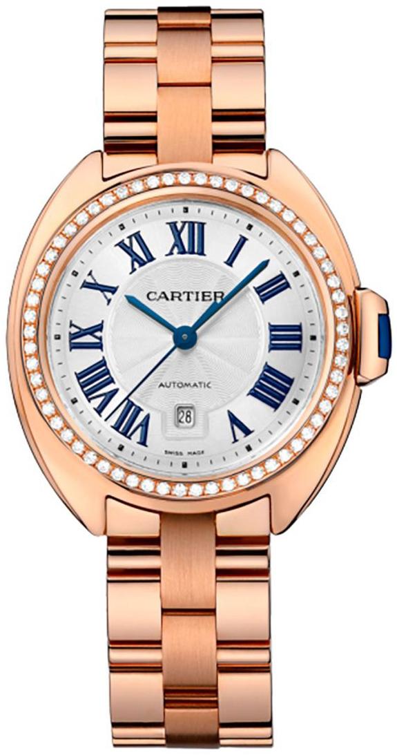Cartier Cle De Cartier Dameklokke WJCL0046 Sølvfarget/18 karat rosé - Cartier