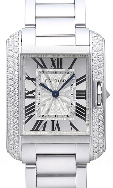 Cartier Tank Anglaise Dameklokke WT100028 Sølvfarget/18 karat hvitt - Cartier