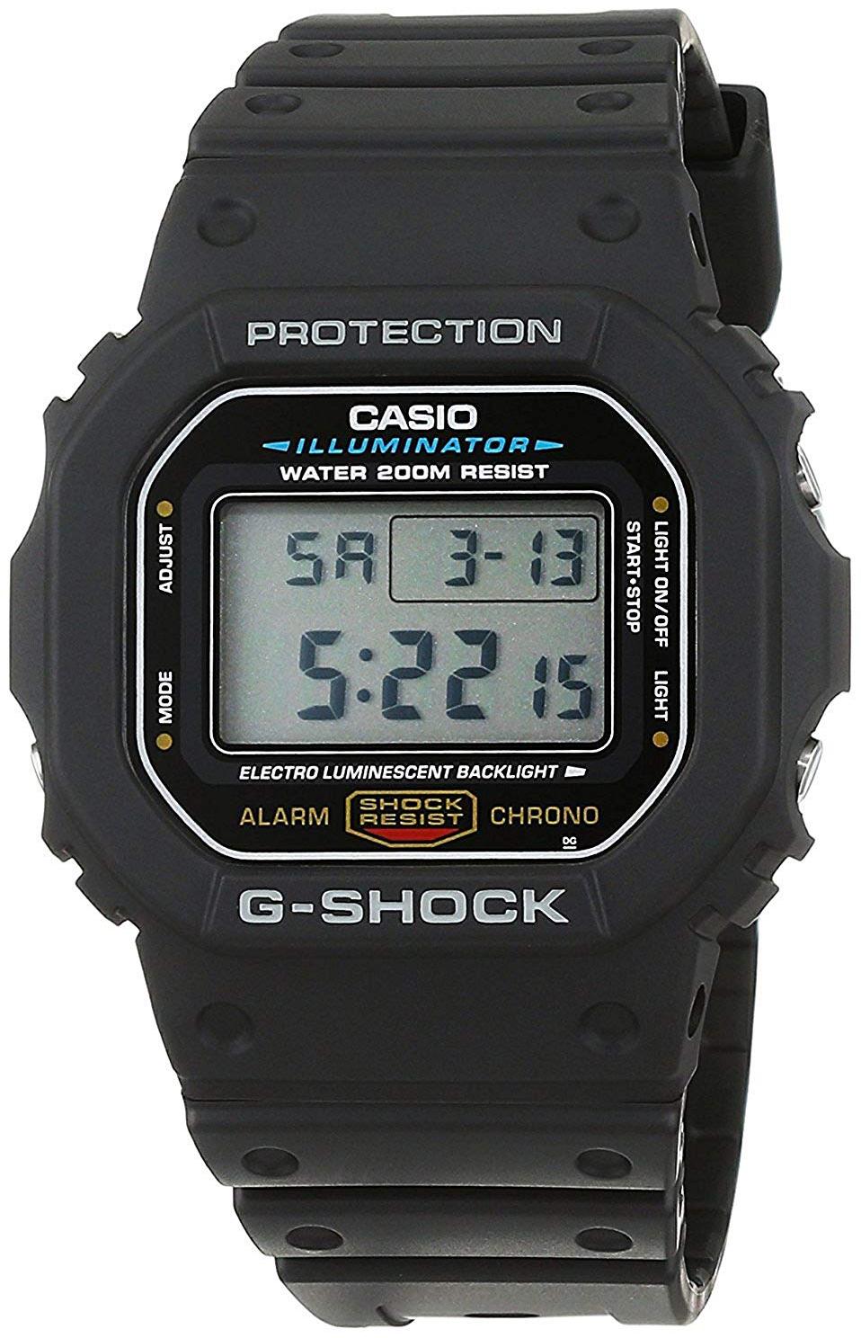 Casio G-Shock Herreklokke DW-5600E-1VER Resinplast 48.9x42.8 mm - Casio