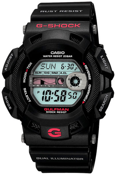 Casio G-Shock Herreklokke G-9100-1E LCD/Resinplast Ø45 mm - Casio