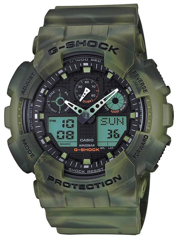 Casio G-Shock Herreklokke GA-100MM-3AER Flerfarget/Resinplast Ø51.2 - Casio